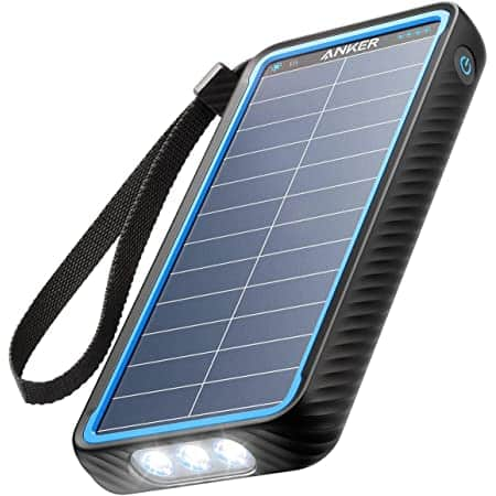 Anker PowerCore Solar 10000 Power Bank, 10,000mAh Dual-Port Solar Charger with Flashlight $30