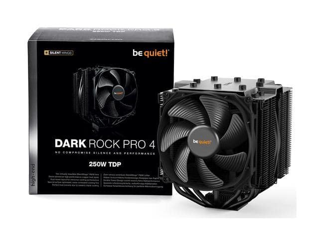 be quiet! 250W TDP Dark Rock Pro 4 CPU Cooler with Silent Wings - PWM Fan - 135 mm + $5GC @Newegg $69.90 AC