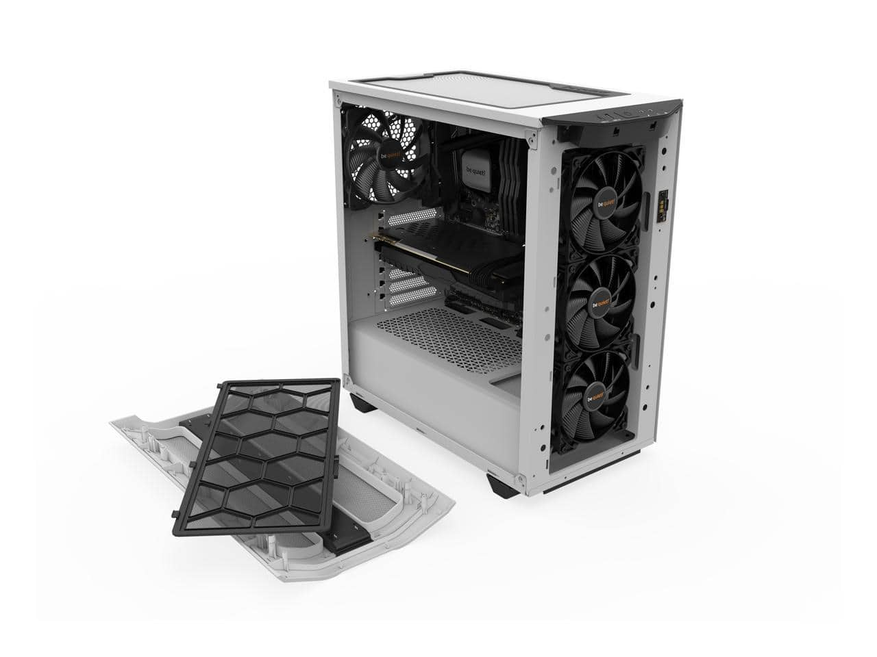 be quiet! Pure Base 500DX White Tempered Glass Mid Tower Case @Newegg $79.9