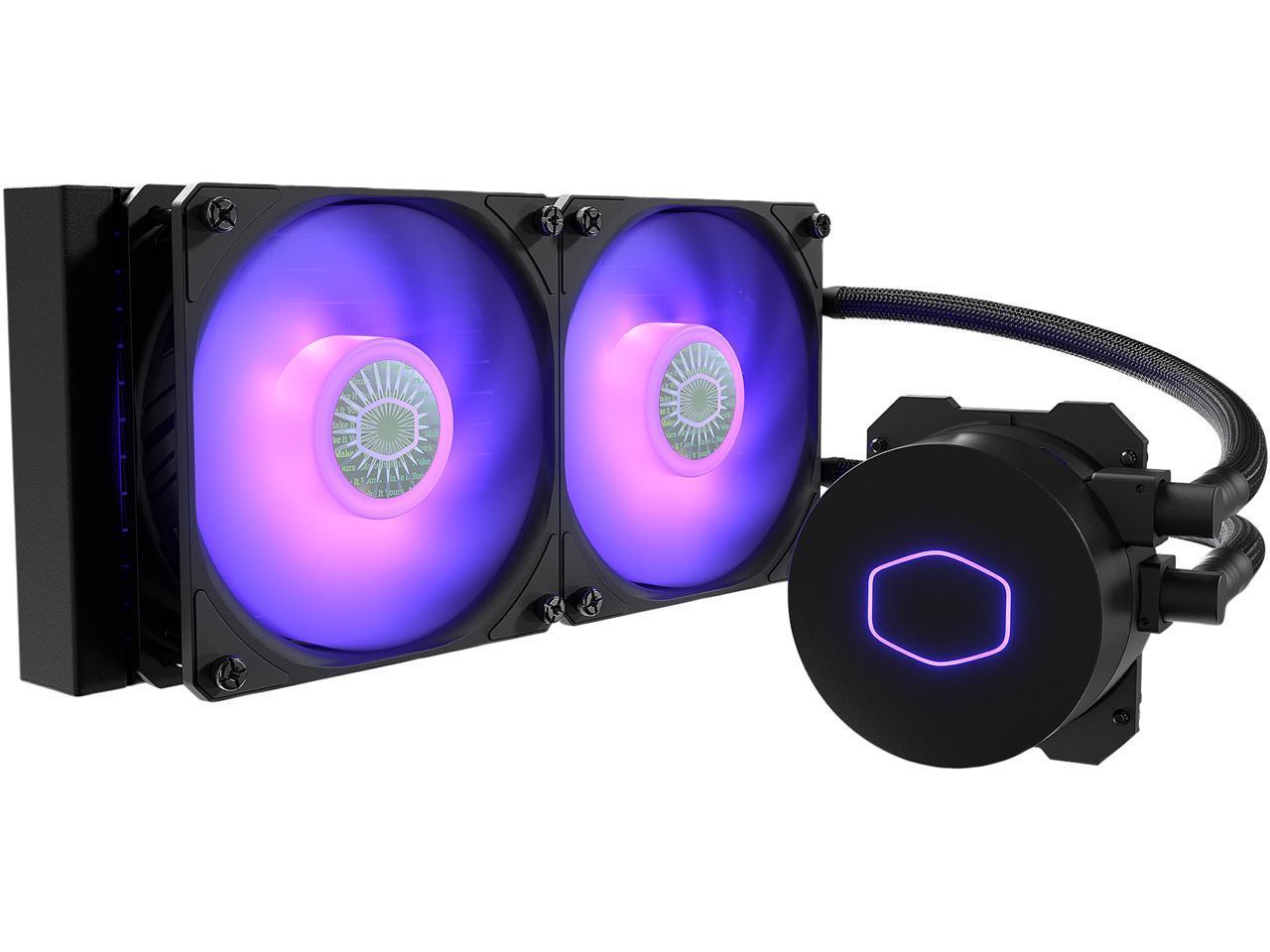 CoolerMaster MasterLiquid ML240L RGB V2, AIO Liquid Cooler @Newegg (AR) $61.49
