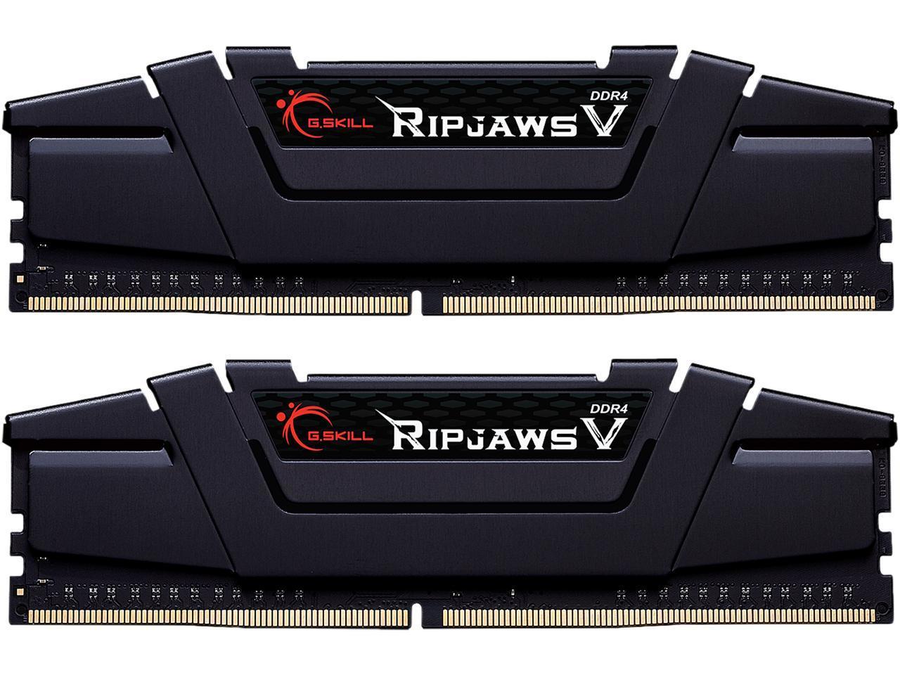 32GB (2x 16) G.SKILL Ripjaws V Series DDR4 3600 Desktop RAM kit @Newegg $140