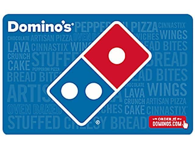 Domino's $25 Gift Card (Email Delivery) + $5GC @Newegg