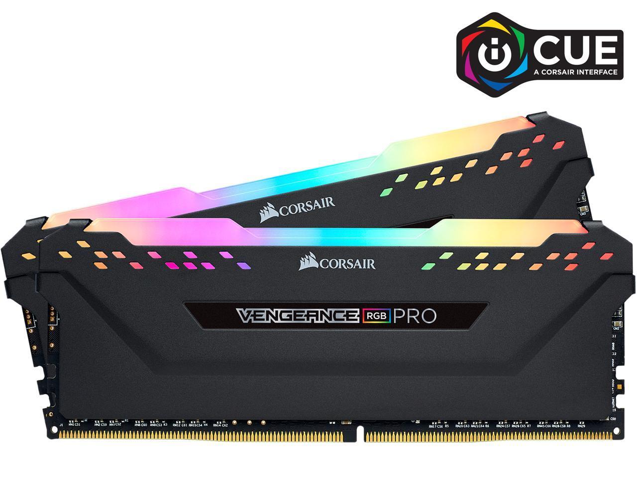 32GB (2x 16) CORSAIR Vengeance RGB Pro DDR4 3600 Desktop RAM kit @Newegg $155