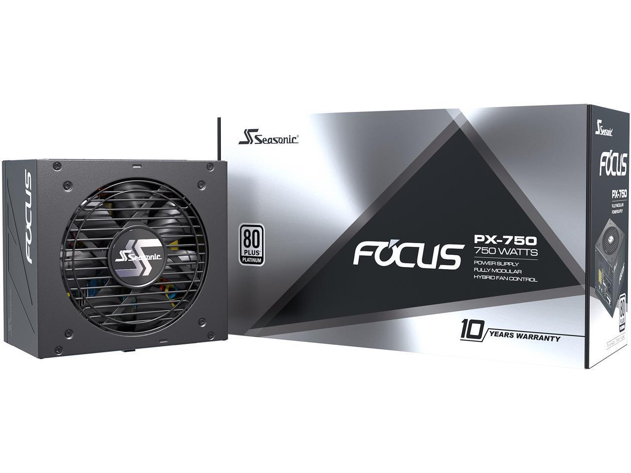750W Seasonic FOCUS PX-750, 80+ Platinum Modular Power Supply @Newegg (AR) $100