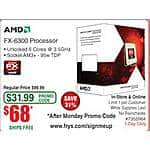 AMD FX-6300 6-Core 3.5GHz AM3+ Unlocked Processor $68@Frys (w/emailed code)