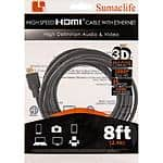 8ft HDMI cable $1AC (w/emailed code @Frys)
