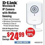 D-Link DCS-930L Wireless-N Motion Sensing IP Camera $25 @Frys