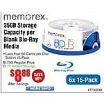 Memorex BD-R 25GB BluRay Media 15-pak $8.88, Logitech G230 Gaming Headset $30, HP Z6000 BT Mouse $10 Z6500 Wireless Trackpad $13@Frys
