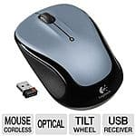 Logitech M325 Wireless Mouse, Silver- 2.4GHz $10@TigerDirect