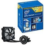 Intel® Pentium® Unlocked G3258 Processor and Corsair Hydro Series H75 Liquid CPU Cooler $110@TigerDirect