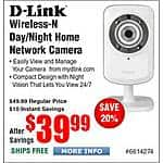 D-Link Cloud Wireless IP Camera w/ Night Vision dcs-932L $40@Frys (pm'ed by Amazon)