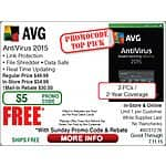 AVG AntiVirus 2015 3PC/2yr FAR @Frys (w/emailed code)