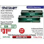 8GB (2x 4) Patriot Viper DDR3 1866 SDRAM Memory $32AR @frys w/ emailed code 9/2 only Infinity Primus 363 Three-way Speakers $99ea