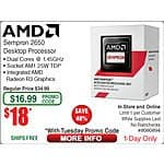AMD Sempron 2650 AM1 Retail Processor $18 (w/emailed promo code) @Frys 9/8 Kaspersky Total Security 3-dev FAR online