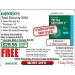 Kaspersky Total Security 3-dev FAR @Frys 8/10 (emailed code) 10-pak Lenmar NiMH AA ir AAA batteries $17.20