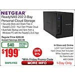 "NETGEAR ReadyNAS 202 2-Bay NAS Storage $199 @Frys (w/emailed code) 9/18  HP 15.6"" Sport Laptop Backpack - Gray / Turqouise / Yellow $20"