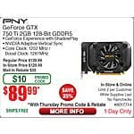 PNY GTX 750 ti Video Card $90AR @Frys (w/emailed code) 10/1 Antec AMP Pulse BT Headphomes $30, ASUS VX238H Widescreen LED Monitor $139AR