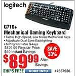 Logitech G710 PLUS G710+ Mechanical MX Brown Switch Keyboard $90@Frys Antec NSK-3180 mATX/M-ITX Case w/380W PSU $39AR