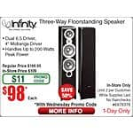 infinity Primue 363 P363 Floorstanding Speakers $98ea (w/emailed code 10/14) @Frys (listed as in-store0