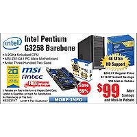 Frys Deal: Intel Pentium Unlocked G3258 Retail Processor LGA1150 MSI Z87 PC Mate Motherboard + Antec Three Hundred Two Case Barebone Bundle $99AR @Frys