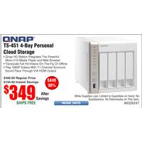 Frys Deal: QNAP 4 Bay NAS Server TS-451 $349, @Frys