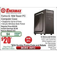 "Frys Deal: Samsung 850 EVO 250GB SSD $75@Frys (10/11 w/emailed code) Enermax Fulmo-Q ATX Case $20AR  iLive 32"" BT Soundbar $33, Rhino 31pc Screwdriver Set FAR, JBL Loft 40 Speakers $38/pr"