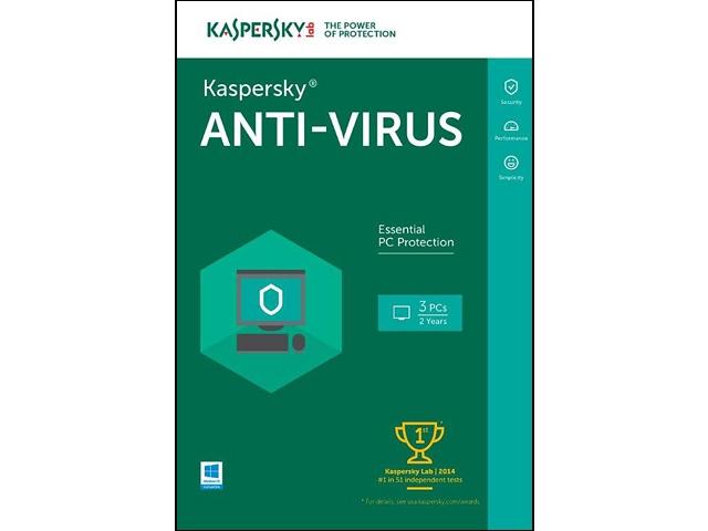Kaspersky Anti-Virus 2016 3PC/2Yr $15AC @Newegg