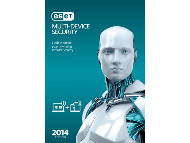ESET Multi-Device Security 2014 - 5 PCs + 5 Android Devices $25AC @Newegg