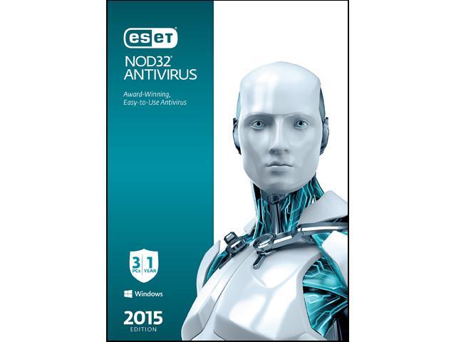 ESET NOD32 Antivirus 2015 - 3 PCs/1Yr $15AC@Newegg