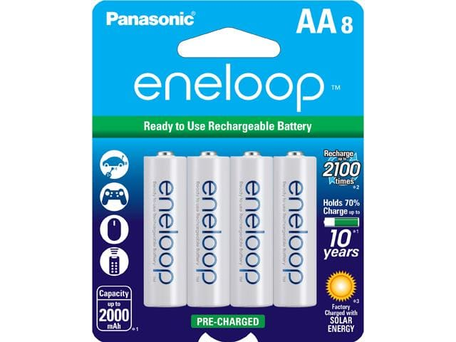 8-Pack Panasonic Eneloop AA Pre-Charged Rechargeable Batteries $13AC@Newegg now $16