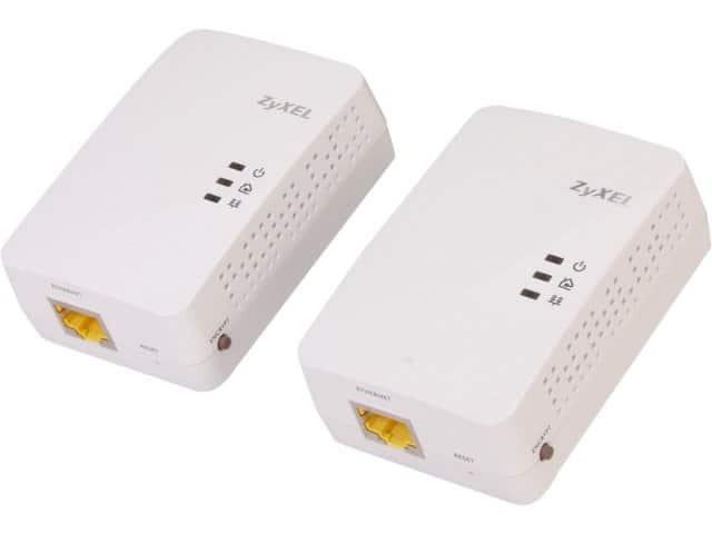 ZyXEL PLA5205KIT AV2 AV600 Powerline GBe Network Adapter Kit $40@NF