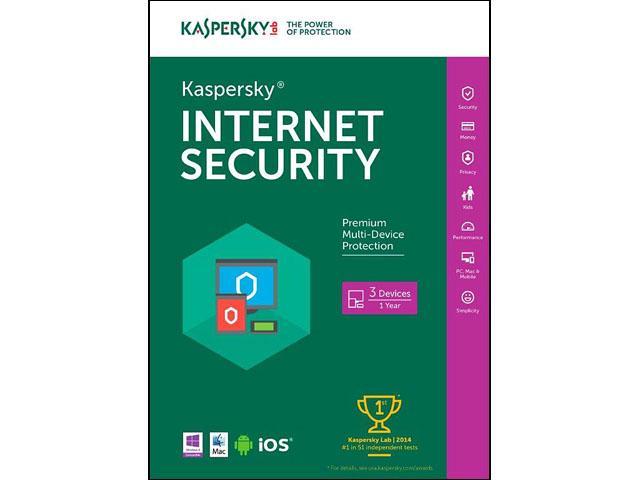Kaspersky Internet Security 2016 3-Dev /1Yr D/L $10@Newegg  5-Dev/1Yr now $15AC