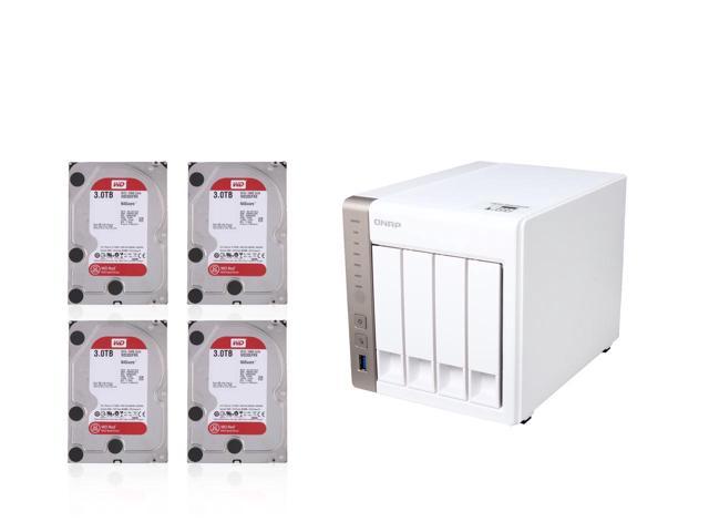 QNAP TS-451 4-bay NAS + (4) 3TB WD Red NAS Hard Drives WD30EFRX $695@Newegg