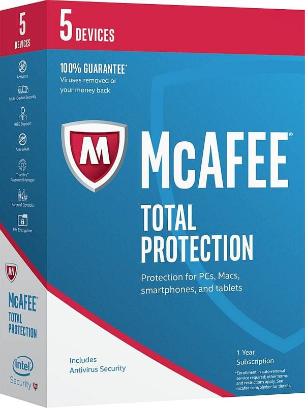 McAfee Total Protection 2017 - 5 Device Free after Rebate @Newegg