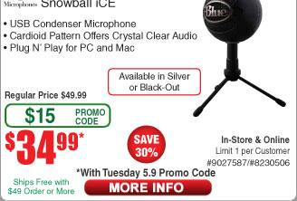 Blue Microphones Snowball Ice USB Mic $35@Frys (w/emailed code) at Frysren