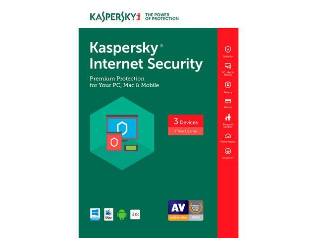 Kaspersky Internet Security 2017 - 3 PCs (Key Card) Free after Rebate  @Newegg