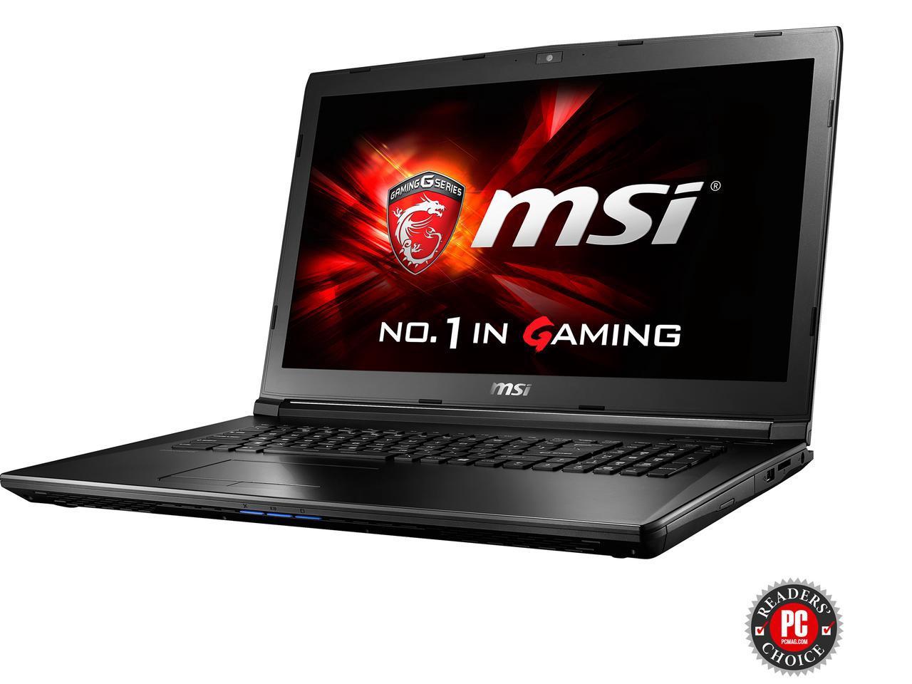 "MSI GL72 7QF-1057 17.3"" Intel Core i7 7th Gen 7700HQ (2.80 GHz) NVIDIA GeForce GTX 960M 8 GB Memory 1 TB HDD Windows 10 Home 64-Bit Gaming Laptop $699AR"
