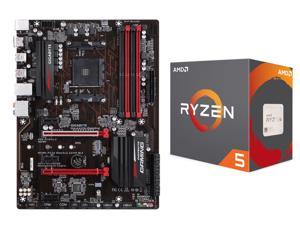 AMD RYZEN 5 1600X CPU and GIGABYTE GA-AX370-Gaming (rev. 1.0) AM4 Motherboard Combo $290AR