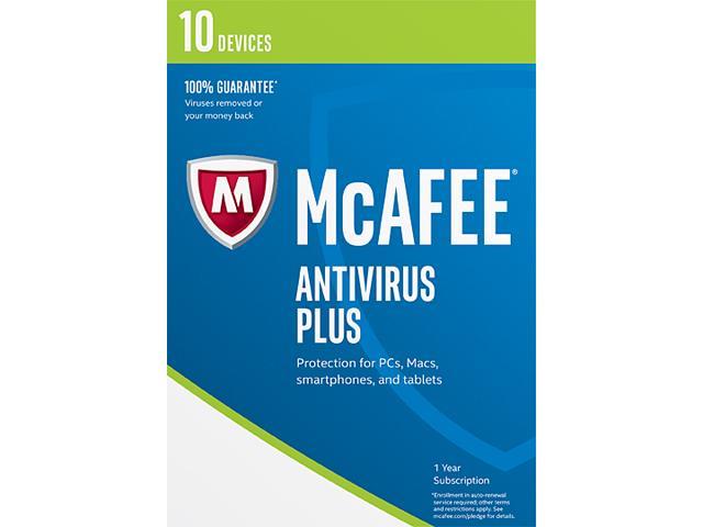 McAfee AntiVirus 2017 - 10 Device Free after Rebate