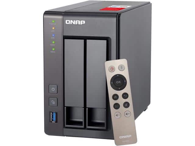 QNAP TS-251+-2G-US 2-bay Diskless NAS $279AC