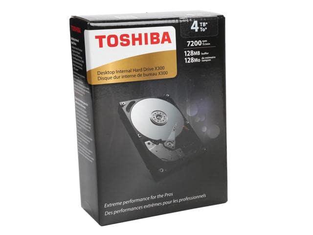4TB Toshiba X300 7200RPM Hard Drive Boxed $103.49AC