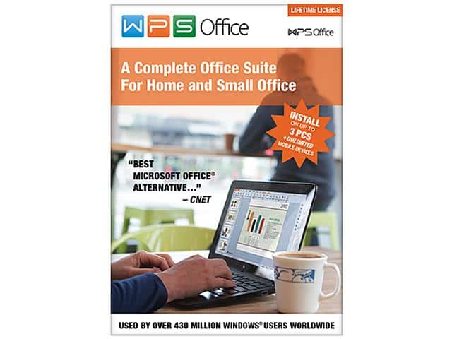 WPS Office 10 Business Edition - 3 PCs / Lifetime Free after $30 Rebate