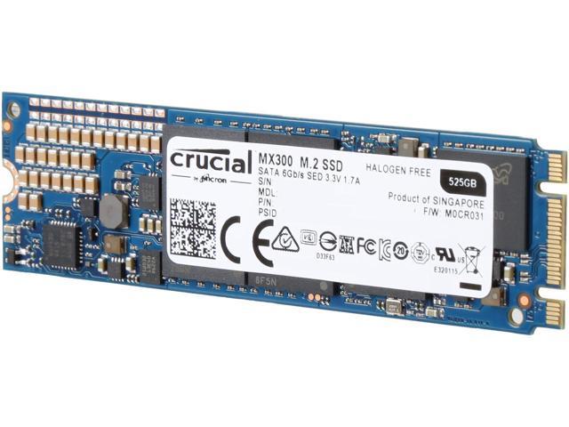 Crucial MX300 525GB m.2 SATA3D NAND SSD $140