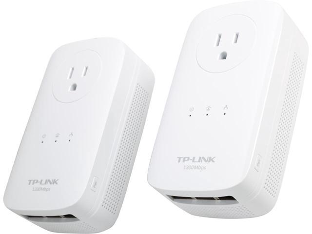 TP-Link TL-PA8030P KIT AV1200 3-Port Gigabit Passthrough Powerline Starter Kit $54AC