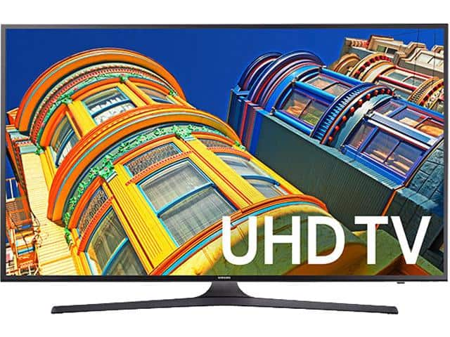 "43"" Samsung UN43MU6300 4K Ultra HD Smart TV with HDR Pro $399AC"