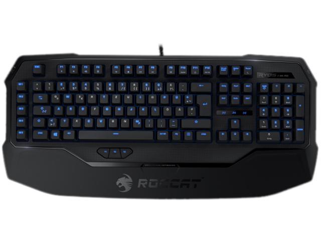 ROCCAT ROC-12-851-BK Ryos MK Pro Mechanical Keyboard with Per-key Illumination - Black Cherry MX Key Switch $70AC