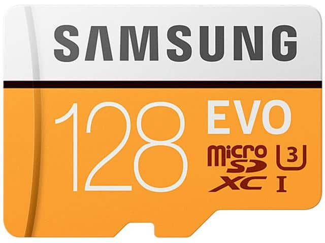 128GB Samsung EVO UHS-I/U3 microSD XC Memory Card with SD Adapter $48AC