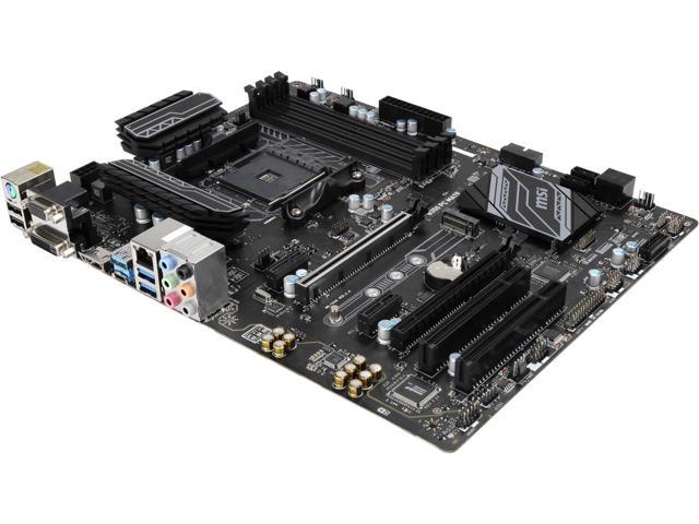 MSI B350 PC MATE AMD Ryzen DDR4 ATX Motherboard $70AR Gigabyte GA-AB350 (rev1) also $70AR