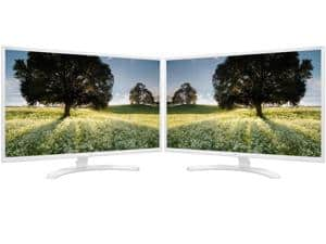 2x  LG 32MP58HQ-W White 31.5 inch FHD 1080p LED Monitor, IPS Panel  Combo: $300AC