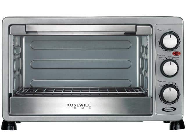 Rosewill RHTO-17001 6 Slice Toaster/Convection Oven Broiler with Drip Pan, Stainless Steel $40AC